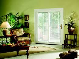 sliding glass door white