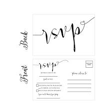 plain rsvp cards amazon com 50 blank rsvp cards rsvp postcards no envelopes needed