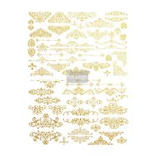 Gilded Design Redesign Gold Transfer Gilded Ornate Flourishes