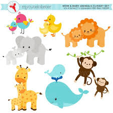 mother and baby animal clipart. Contemporary Animal Image 0 With Mother And Baby Animal Clipart Etsy