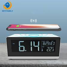 square abs multifunction digital alarm clock bedroom bedside led alarm clock mobile phone charging outdoor wireless