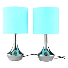 blue bedside lamp teal light bedside lamps pair touch bedside table lamps with chrome base blue teal pink tall blue bedside table lamp shade