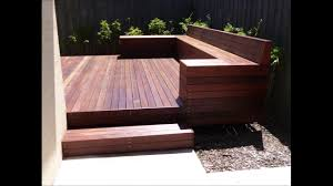 how to build a timber deck with a bench seat