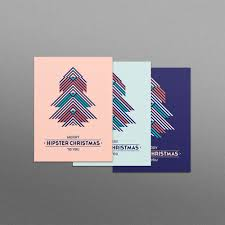 Hipster Christmas Card Set 3x Cards Designs For Visual Culture