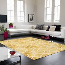image of new yellow area rug