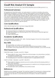 skills and ability resumes credit risk analyst cv sample myperfectcv