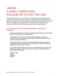 Post Interview Email Use These 7 Emails To Get The Job After Your Interview