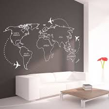 outlines wall decal continents decal