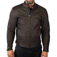 home vintage style cafe racer in leather and textile invictus cronos brown leather motorcycle jacket