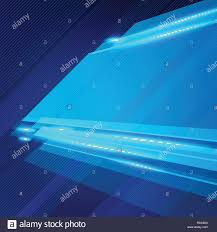 Blue Footer Design Abstract Technology Geometric Blue Color Shiny Motion