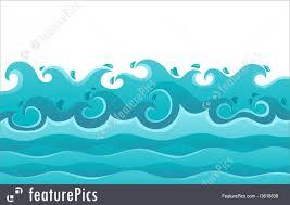 Ocean Wave Background Ocean Waves Theme Image 6