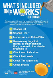 ford works whats included in the works oil change