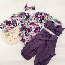 XIAXAIXU - <b>3PCS Newborn Baby</b> Girls Tops Romper+Floral Pants ...