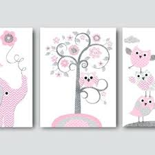 pink gray baby shower gift elephant giraffe nursery decor girl art print kids and grey room yellow ideas decorations
