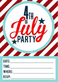 4th Of July Printable Invitations Free Printable Included