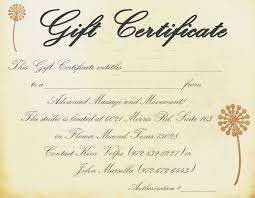 Massage Gift Certificate Template Free Printable 3 Best