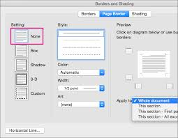 Remove Page Borders In Word For Mac Word For Mac