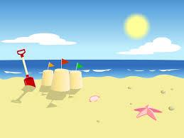 cartoon beach background clipart