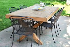 outdoor table and chairs build this outdoor table featuring a herringbone top and x brace legs outdoor table and chairs