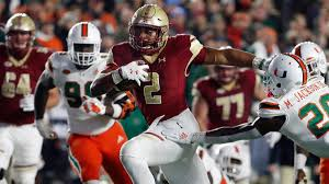 college football scores schedule games today boston college ousts miami utah rolls ucla cbssports