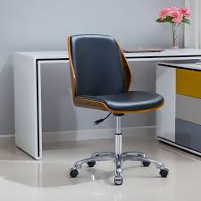 height adjule task chair modern bentwood office chair seat with multi directional wheels computer chair