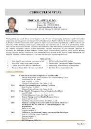 Qc Resume Samples Qa Qc Cv Format Using Professional Templates From My Ready