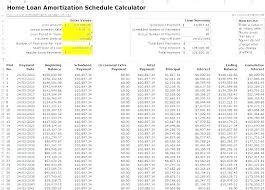 Loan Amortization Calc Extra Principal Home Mortgage Calculator My Loan Excel