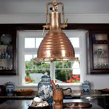 nautical authentic ship light copper and brass nautical lightingcoastal lightingbeach house
