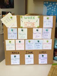 Cork Board Chore Chart Cork Board Chore Chart Punch Holes In Chore Cards And Place