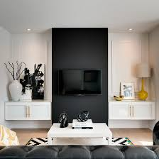 TV wall idea by Love Design View in gallery Black TV wall design
