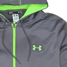 under armour zip up. under armour genuine fleece hoodie (zip up) coldgear jacket (grey zip up