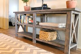 Interesting Diy Sofa Table With Storage Z To Creativity Design