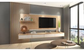 feature wall tv console design. Contemporary Wall Suspended TV Console With Timber Feature Wall Order This At  Recommendmy Inside Feature Wall Tv Console Design G