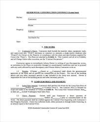 Contract Forms For Construction 38 Sample Free Contract Forms