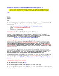 Template 2 C Non Union Part Time Clinical Appointment Letter