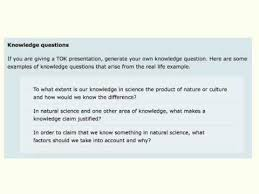 what is a tok knowledge question  what is a tok knowledge question