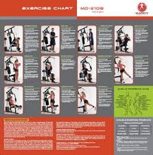 Marcy Home Gym Workout Chart Fitness 2018 Home Gym
