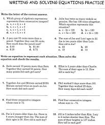 one step equations worksheet awesome writing and solving one doc worksheets medium size