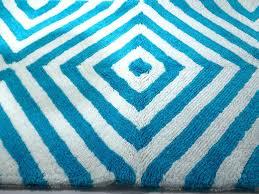 details about jonathan adler arcade bath rug mat nwot 89 turq white
