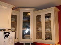 kitchen corner wall cabinet with glass doors corner kitchen cabinets design oak island white marble tops