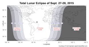 Lunar Chart 2015 Total Eclipse Of The Moon September 27 28 2015