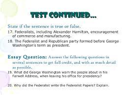 Jefferson Vs Hamilton Venn Diagram Federalists Vs Republicans