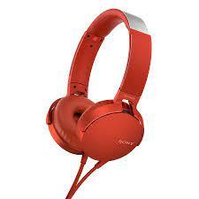 Tai nghe chụp tai Sony có mic màu đỏ MDRXB550APRCE