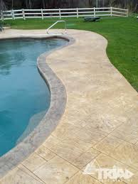 stamped concrete pool patio. Stamped Concrete Pool Patio