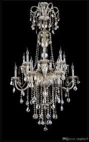 Großhandel Crystal Lighting Kronleuchter Lampe Treppen Kronleuchter Kristall Led Kronleuchter Leuchten Hotel Lange Kronleuchter Licht Lobby Von