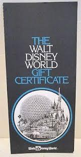 walt disney world epcot center gift certificate brochure order form 1983