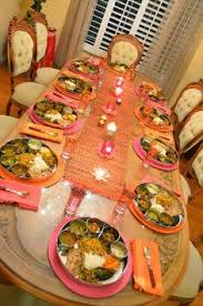 kitchen table with food. Thali Tablescape. Kitchen Table With Food