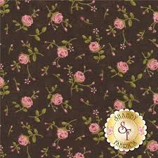 32 best Possible fabrics for quilt images on Pinterest | Quilting ... & Rambling Rose 17793-16 Chocolate By Sandy Gervais For Moda Fabrics:  Rambling Rose is Adamdwight.com