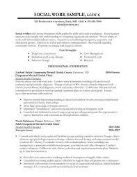 Sample Social Work Resume Examples Career Social Worker