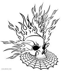pictures of skulls to color. Plain Skulls Flaming Skull Coloring Pages On Pictures Of Skulls To Color S